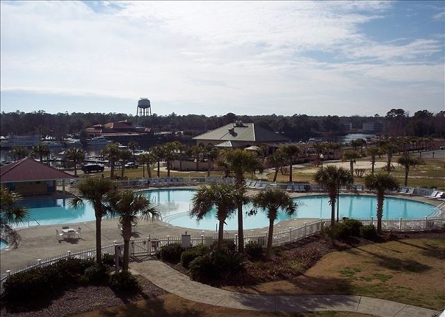 Your reservation also includes access to swim in the largest salt water pool in SC, at Barefoot Resort on the waterway.