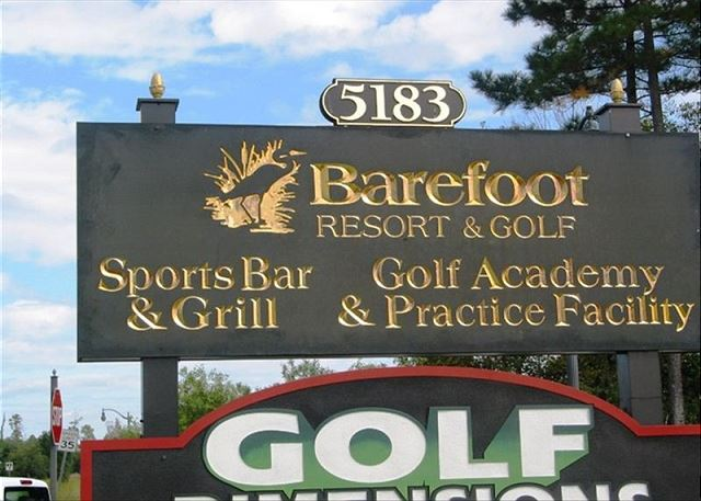 Sports bar and golf academy on site in the great BareFoot Resort community.