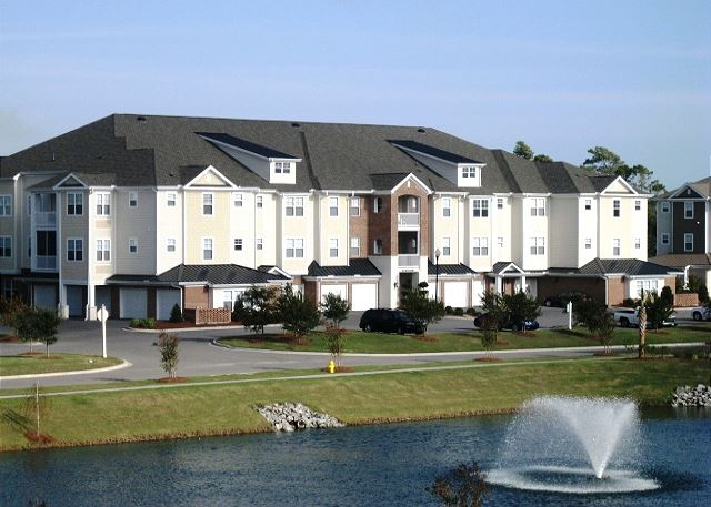 Every community at BareFoot Landing Resort is well manicured and full of nature views.