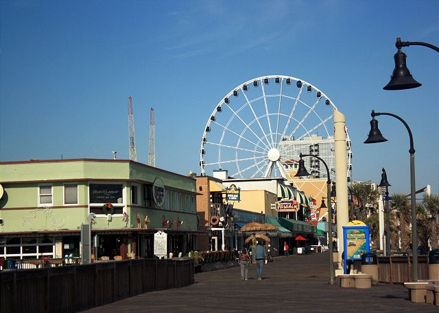 Downtown Myrtle Beach is just 30 minutes away to enjoy The SkyWheel and famous boardwalk area