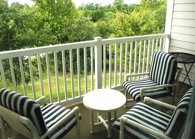 Enjoy the great outdoors on the furnished patio