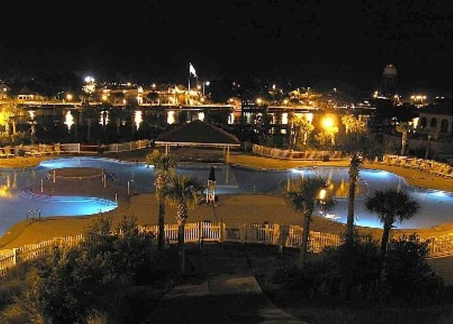 Day or night, the Barefoot Landing Resort area just sparkles.  You should see the fireworks in July!!!