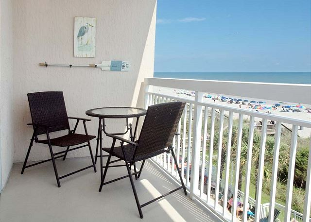 Enjoy your morning coffee on the ocean front balcony