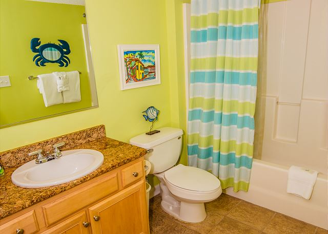 Another private guest bath and linens are provided for you.