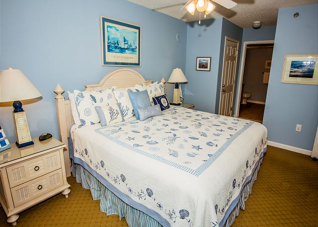 A peaceful master retreat awaits you at this Crescent Shores beauty.  Your bed and bath linens will be fully stocked for the week.