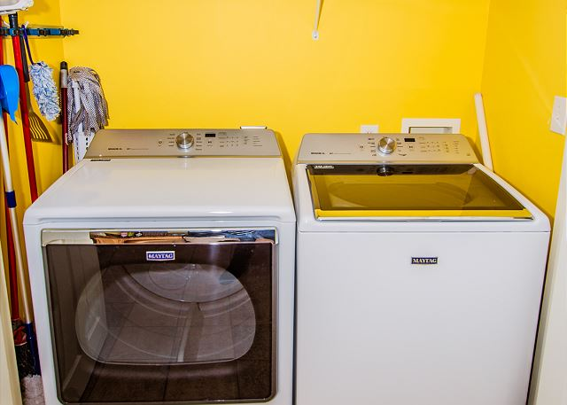 Full size washer and dryer available in the unit.