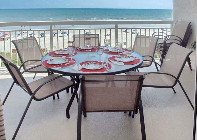 Breakfast, lunch or dinner with the family on the balcony -- best seat in the house!!!