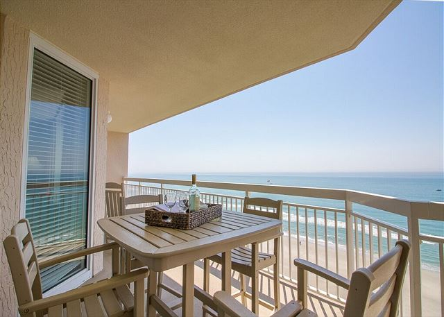 Step on to the 13th floor balcony from the living room, and take in that view