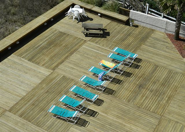 Enjoy the space of the large sundeck overlooking the dunes & beach