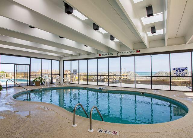Indoor heated pool, enjoy all year around