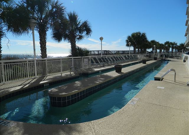 Beautifully landscaped grounds surround this ocean front complex -- spend some time floating on the lazy river