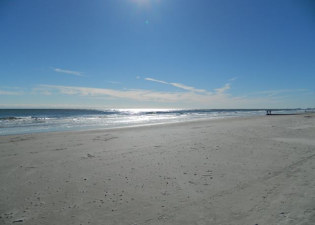 Crescent Beach -- blue skies and sunshine complimentary with your stay.