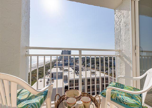 balcony with great beach breezes and skyline night views that wi