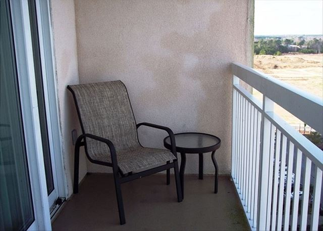 Private Balcony -- take time to sit and enjoy.