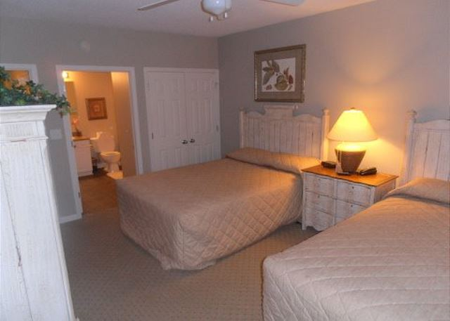 Dreamy guest bedroom with 2 queen beds and your own private bath.