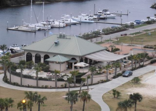 Barefoot Resort Marina -- Enjoy lunch at the grill and watch the boats sail by.