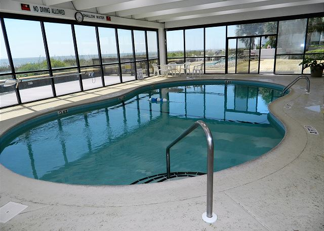 Another great amenity at WaterPointe II -- the heated indoor pool for year round enjoyment