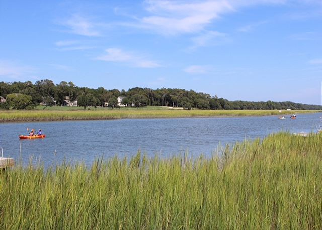 Cherry Grove offers natural scenery of the marsh and waterways.  Local kayak rentals available for your family fun!