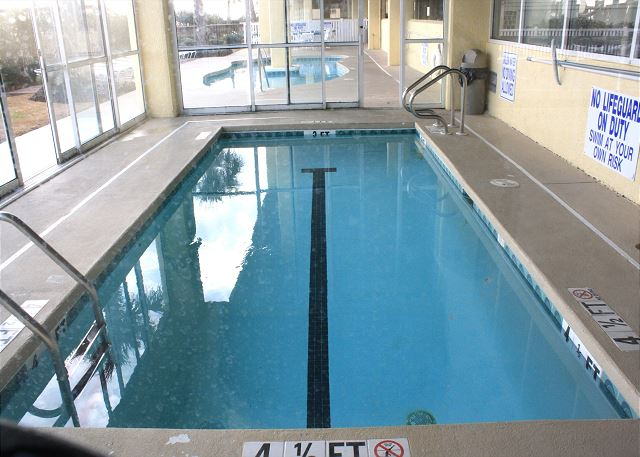 Another great amenity for your vacation pleasure -- heated indoor pool