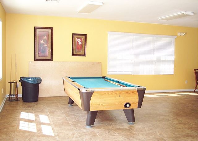 Lots of amenities in this great community -- Pool table in the game room at the club house
