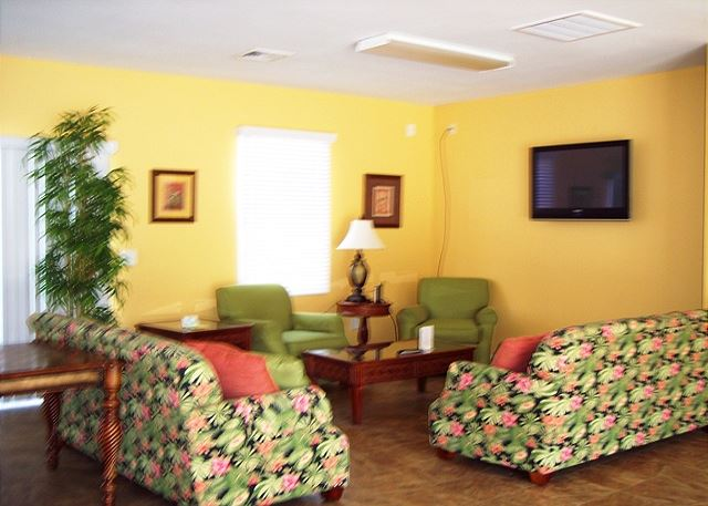 Sitting area at the community club house
