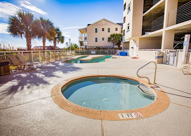 The hot tub and lazy river are just two of the great amenities to enjoy during your stay!