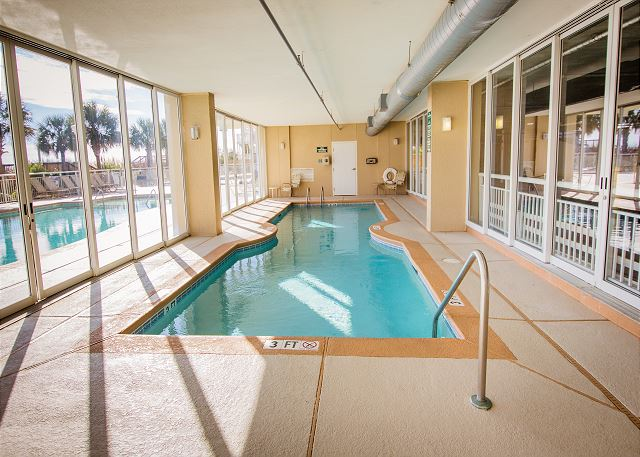 One of the great amenities, an indoor heated pool.
