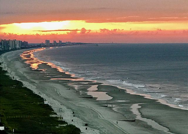 It's worth waking up early to see the beautiful sunrises over the Atlantic Ocean!