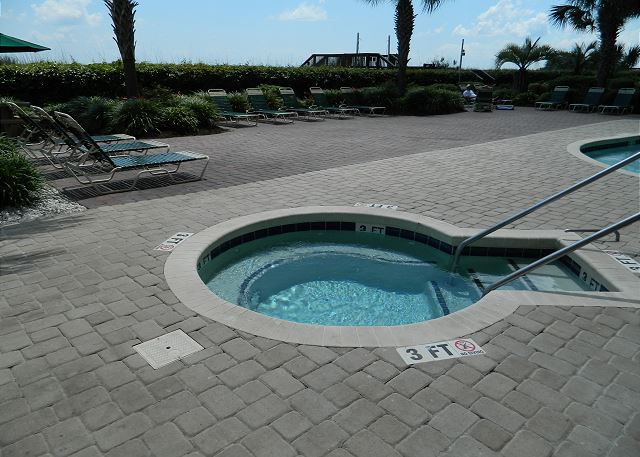 Outdoor Hot tub for that soak to relax!