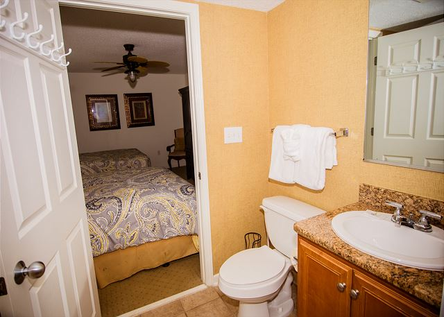 Private bath for this guest room