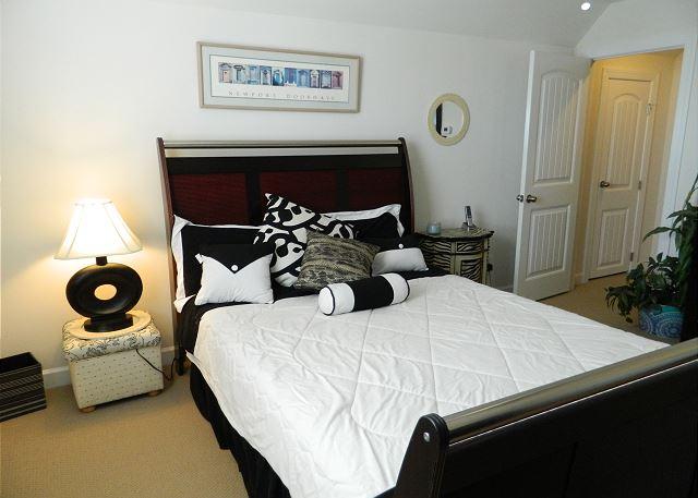 Upstairs bedroom retreat with queen bed