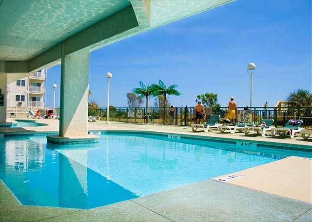 Wonderful sun deck and outdoor pool overlooking the dunes