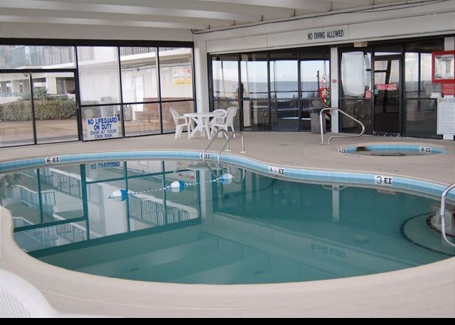 Plan to use the heated indoor pool for sunny days or rainy days -- just another great WaterPointe amenity.