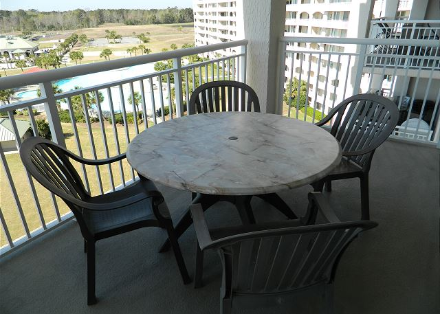 Balcony Off Living Room With A View Of The Marina And Intra Coastal Waterway