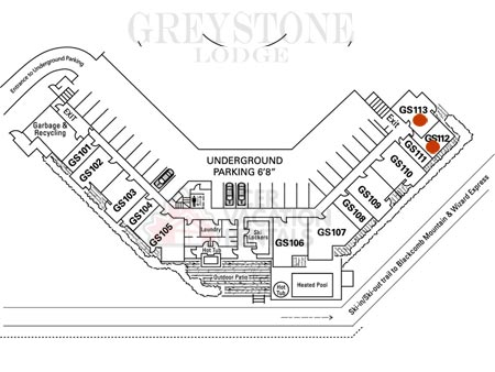 Location of 112/113 in Greystone Lodge