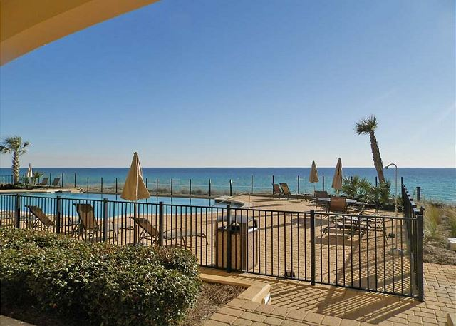 Gulf pool from patio