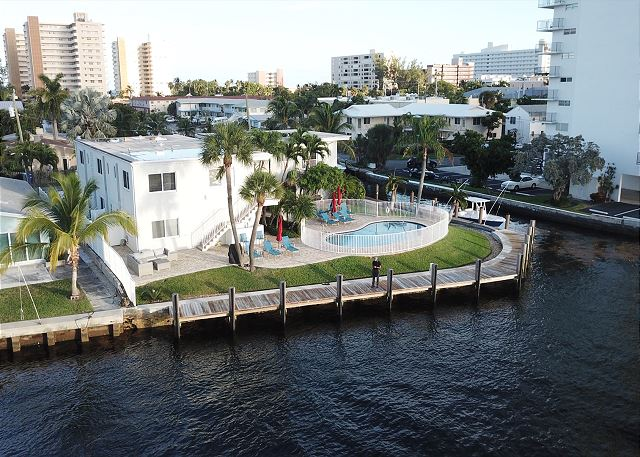 The dock wraps around the property and can accommodate boats of several sizes at $50 per night.