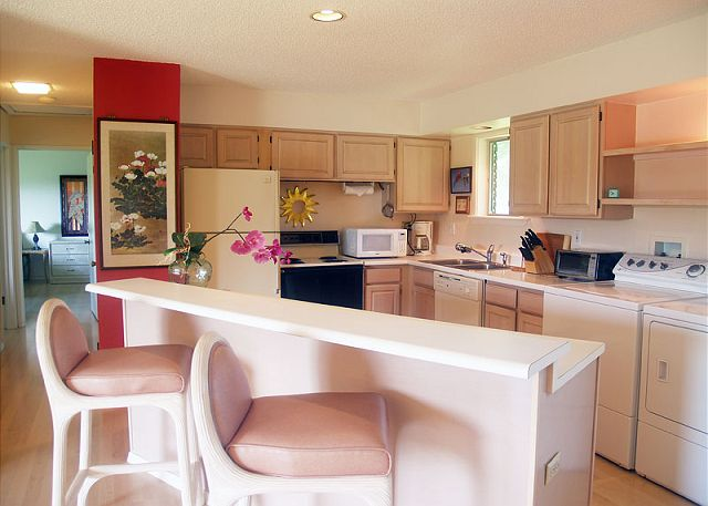 Kitchen and breakfast bar for two