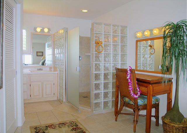 Stunning master bathroom with walk-in shower for two!  Perfect for couples!