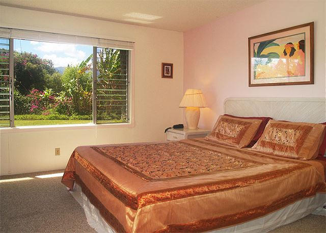 Master bedroom with louvers to capture that cool Hawaiian breeze.