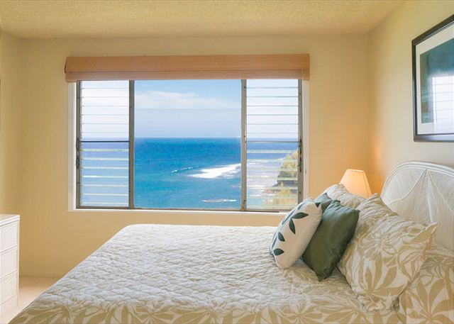 Ocean view master bedroom!  King size bed with new Beautyrest mattress.
