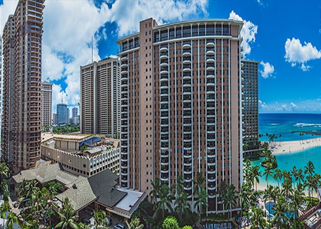 Hilton Hawaiian Village view from Lanai