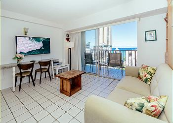 Waikiki Park Heights Ocean 1 BDR on the 18th Floor A