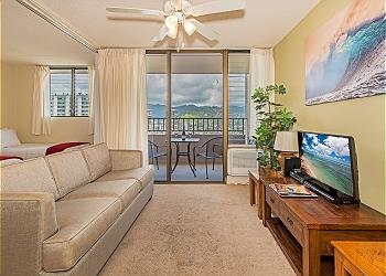 Royal Kuhio City 1 BDR on the 24th Floor