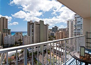 Waikiki Lanais Ocean 1 BDR on the 19th Floor