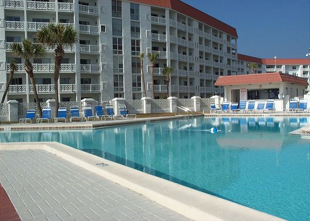 The Gulf front pool has been a place of family fun for years!