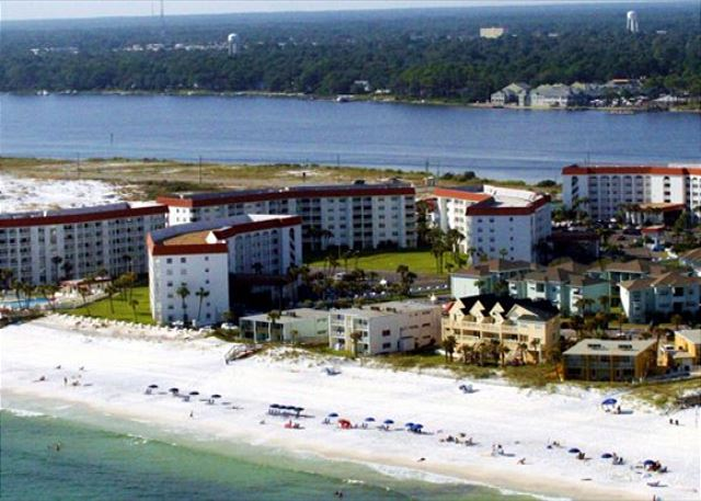 Oklaoosa Island is a narrow strip of beach between the Gulf of Mexico and the Intra-Coastal Waterway.