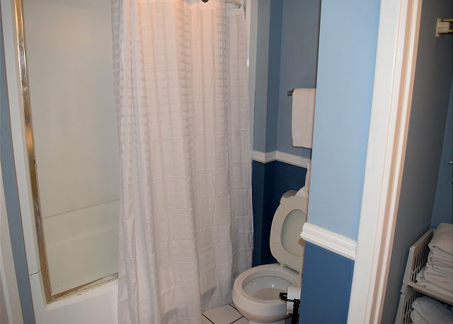 Shower and tub in this unit - enjoy the soak!