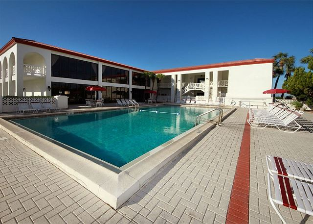 This is the smaller front pool. Heated in the winter!