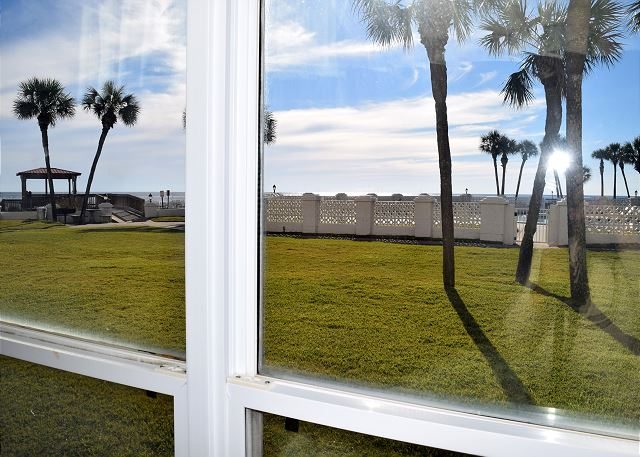 This is the view toward the beach from your master bedroom.